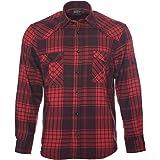 ROCK-IT Apparel® Camisa de Franela de Manga Larga para Hombres Camisa de leñador a Cuadros Fabricada en Europa Diversos Color
