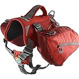 Kurgo Hundryggsäck, hundsadelväska, hundpaket, justerbar sadelväska för vandring, promenader, löpning, camping, baxterstil, c