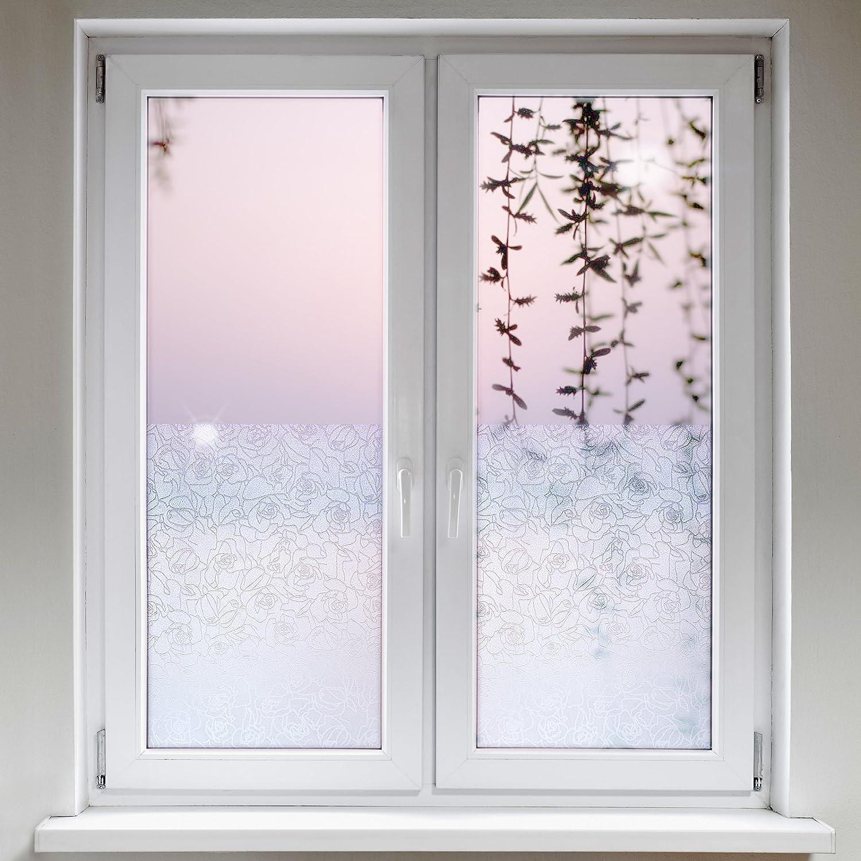 Artefact® Dekofolie / Fensterfolie Rosen | Statisch Haftend (ohne Kleber) |  Verschiedene Größen: Amazon.de: Baumarkt