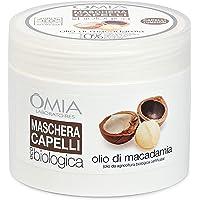 Omia Maschera per Capelli Eco Bio con Olio di Macadamia, Trattamento Ristrutturante per Capelli Stressati e Spenti, 250…