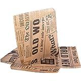 (Pack de 200 articles) Oldnews 150 x 150 mm en Papier de fête 15x15 cm Sacs de Rangement Repas Repas Burger Frites