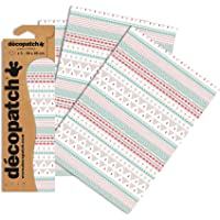 Décopatch C715O - Une pochette de 3 feuilles de papier imprimé 30x40 cm, Apache