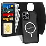 Fyy iPhone 12 Pro Max Case, 2-in-1 Magnetic Detachable Leather Wallet Phone Case [Wireless Charging Support] with Card Holder
