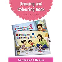 Blossom Drawing and Colouring Practice Books for Kids | 5 to 8 Year Old | Learn How to Draw Easily with Step by Step Instructions | Pencil Drawing Techniques for Children | Level 1 and 2 - Set of 2
