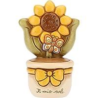 THUN - Vasetto Decorativo con Girasole e Farfalla - Soprammobile - Bomboniere e Accessori per la Casa - Formato Medio…
