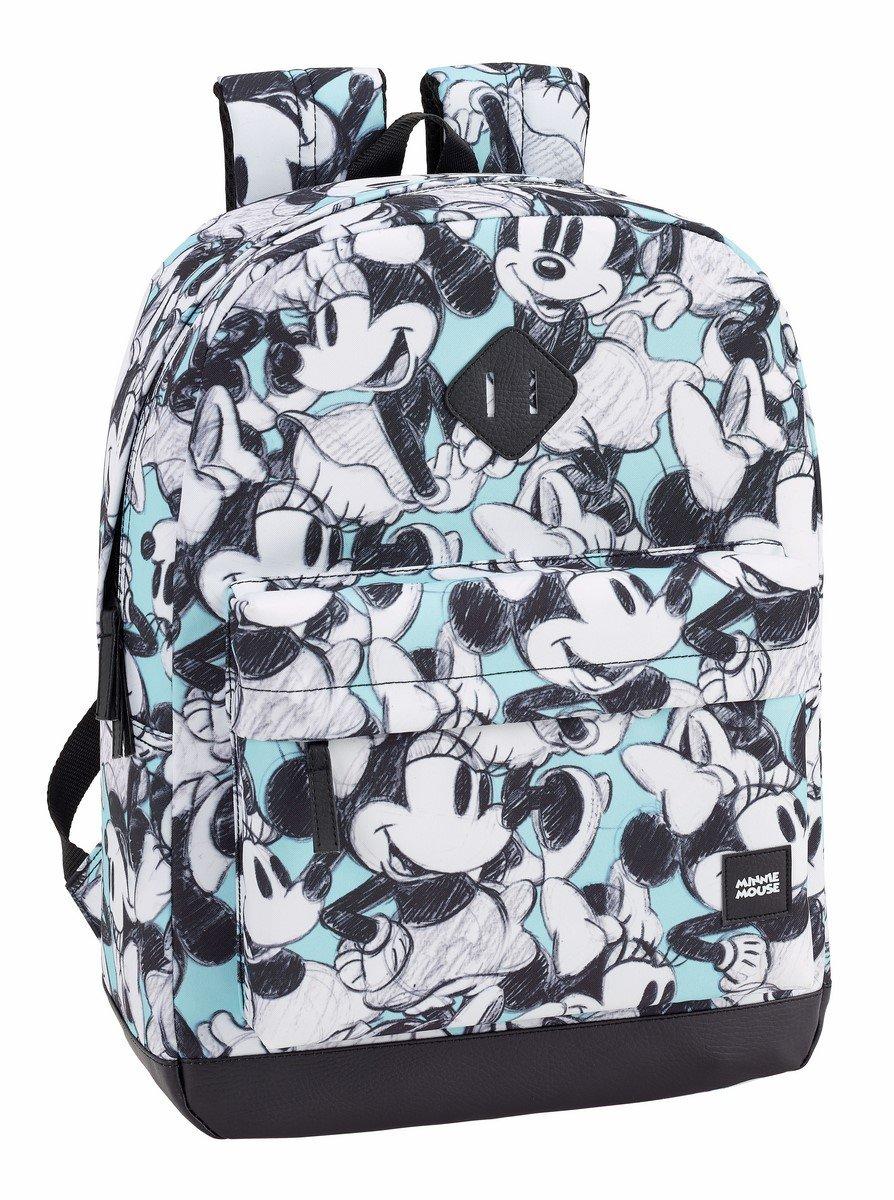 81ay x7KbFL - Safta Mochila Escolar Minnie Mouse Junior Oficial 320x140x430mm
