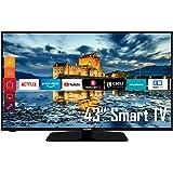Telefunken D43F554X1CW 43 Zoll Fernseher (Smart TV, Prime Video / Netflix / YouTube, Full HD, Triple-Tuner) [Modelljahr 2021]