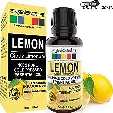 Organix Mantra Lemon Cold Pressed Essential Oil - 30Ml, Pure, Natural, Therapeutic Grade