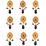 Sanjog Southern Bling Heavily Hair Jewelery Choti Jadai Billai Indian Hair pin, Hair Decoration,Hair Brooch with Hook Wedding
