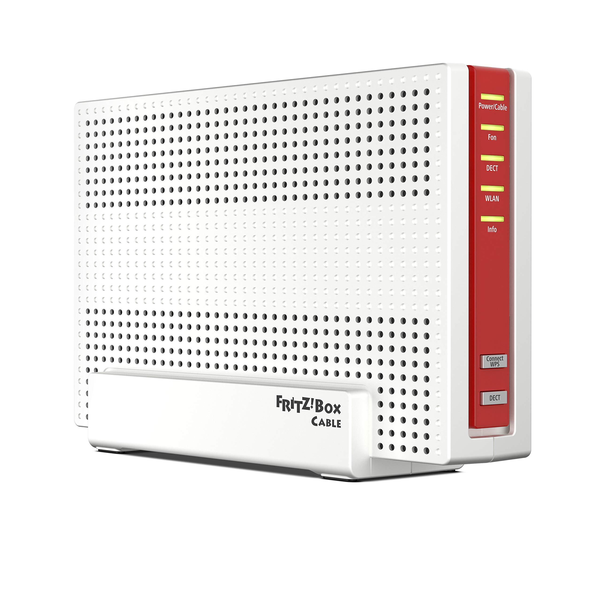 AVM Fritz!Box 6591 Cable WLAN AC + N Router (DOCSIS-3.1-Kabelmodem, Dual-WLAN Ac+N (MU-MIMO) mit 1733 (5 GHz) + 800 Mbit…