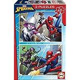 Educa Spider-Man, 2 Puzzles infantiles de 48 piezas, a partir de 4 años (18099)