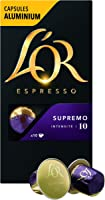 L'Or Espresso Café Supremo - Intensité 10 - 50 Capsules en Aluminium Compatibles avec les Machines Nespresso®* (Lot de...