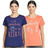 Amazon Brand - Eden & Ivy Women's Regular Fit T-Shirt (Pack of 2)
