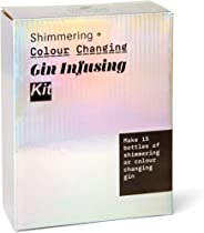 Shimmering & Colour Changing Gin Infusing Kit - Make 15 Bottles of Your own Shimmering and Magically Colour Changing Gin - Am