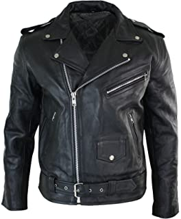 SRHides Mens Motorcycle Original Cow Leather Jacket with CE Approved Internation Protection