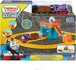 Thomas and Friends Collectible Railway Playset - 18 Pieces , Purple