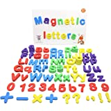 ButterflyEduFields 4in1 Fun Alphabet Words with 50 Pictures, 144 Letter Magnets (Capital & Small), Magnetic Board & Spelling