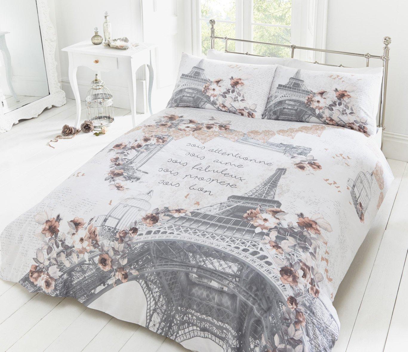 Pieridae Parisian Script Duvet Quilt Bedding Cover & Pillowcase ... : paris quilt covers - Adamdwight.com
