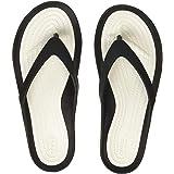 crocs Women's Swiftwater Black/White Flip-Flops-2 UK (33.5 EU) (204974-066)