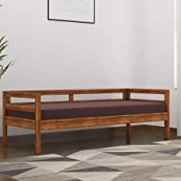 Mamta Decoration Solid Rosewood/Sheesham Wood Sofa Cum Couch with Base Cushion for Living Room | Brown