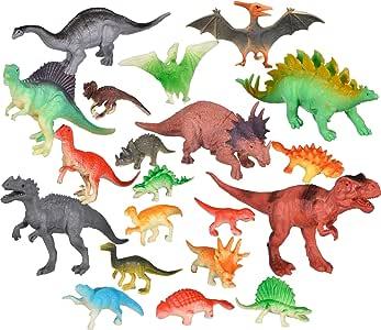 Pixnor Mini dinosaures 12pcs Figurines Dinosaures PVC mod/èle dinosaure Figurines enfants jouet