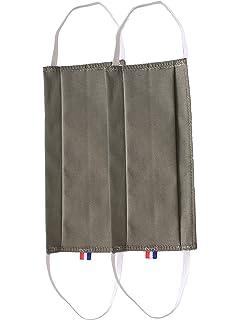 Protection Visage tissu lavable coton 100/% Bleu Ray/é Made in France normes AFNOR Deux couches Par Lot de Deux Pi/èces Taille S enfant 8x17cm