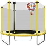 LANGXUN 150 cm indoor/outdoor trampoline voor kinderen/kinderen, beste verjaardagscadeau, goede oefenapparatuur