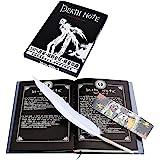 Anime replica Death Note Quaderno Scrapbook, Taccuino,Notebook ,con Penna piuma,nero