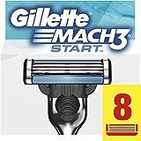 Gillette Mach3 Start Lamette di Ricambio per Rasoio Uomo, Confezione da 8 Lamette per una Rasatura Profonda