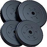 ScSPORTS Halterschijven set 30 kg, Kunststof, 30 mm, 2x10-2x5 kg, Gewichten