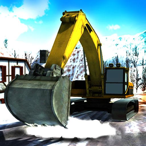 Starke Schneefälle Bagger Kran Simulator - Graben Und Lkw, Dump
