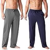 CityComfort Pantalones Largos de Pijama, Pack de 2 Pantalones Hombre De Algodón, Ropa Hombre M - 3XL