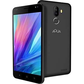 Aqua Jazz 4G Android Smartphone Mobile with Dual Rear Camera, HD Screen & Fingerprint Security (Black, 16 GB)