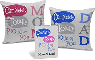 Fathers Day | Gift for Father | Birthday Gift for Father | Set of 2 Cushions(Each 12x12) inch with Filler by TIED RIBBONS