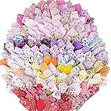 200 pezzi 10 * 10cm Quadrati Stoffa Cotone Creativo Tessuti Lavoretti Cucito Diversi Colori Rosso Rosa Giallo Viola