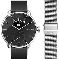 Withings ScanWatch mit Zusatzarmband im Bundle - Hybrid Smartwatch mit EKG, Herzfrequenzsensor und Oximeter, 38mm…