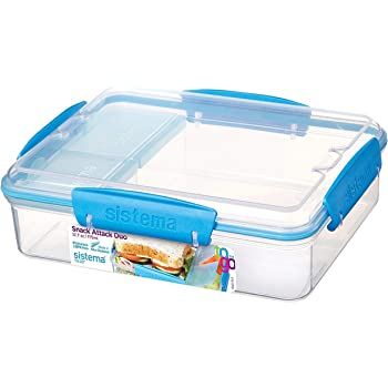 Sistema To Go Snack Attack Duo, 975 ml - Clear/Blue