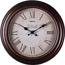 Oreva Ajanta (Oreva) Quartz Round Plastic Wall Clock (30.5 Cm X 4 Cm X 30.5 Cm, Brown)