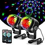 Litake Discobol, discolicht, 3 W, feestverlichting, DJ, podiumverlichting, 7 kleuren, modi, muziekgestuurd, afstandsbediening