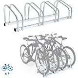Todeco Soporte para Aparcar Bicicletas, Puesto de Bicicletas, Se adapta a 4 bicicletas, Tamaño: 99 x 32 x 26 cm, Tipo de inst