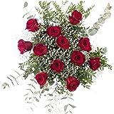 Ramo 12 Rosas Rojas | ENTREGA GRATIS 24 HORAS | Flores Naturales a Domicilio Blossom® | Ramo de Rosas Naturales a Domicilio F