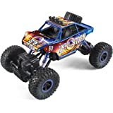 Revell Control Technik 24712 RC Car, Konstruktionsbausatz Crawler, 2.4GHz, 4WD Allradantrieb, Off-Road-Reifen, Do-It-Yourself, ferngesteuertes Auto zum Selberbauen, blau, 27,5 cm