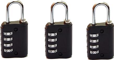 MARK LOUIS Black Luggage Lock(Pack Of 3)