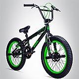 Bergsteiger Tokyo 20 Zoll BMX, Fatbike, 360° Rotor-System, Freestyle, 4 Stahl Pegs, Kettenschutz, Freilauf