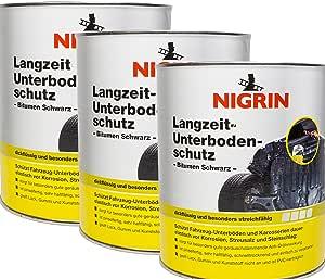 Nigrin 3x 74061 Langzeit Unterbodenschutz Bitumen Schwarz 2 5 Kg Auto