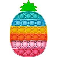 GreenBee Push Pop Bubble Fidget Toy Outil pour soulager Le Stress et l'anxiété pour Enfants et Adultes (Ananas)