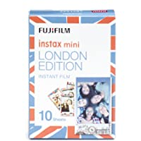 Fujifilm Instax Mini Film Pellicola Istantanea per Fotocamere London Edition, Formato 46x62 mm, Confezione da 10 Foto