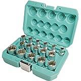 Uttagssats 12 nycklar 1/2 tum 16 st 8-24 mm från WIESEMANN 1893 I Uttag av Q-30 stål I Uttagssats med flera tänder I Med prak