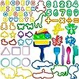 LEXINCHENG 77 PCS Kit di Strumenti per Pasta di Argilla per Bambini, Vari stampi per Animali in plastica e Set di Strumenti p