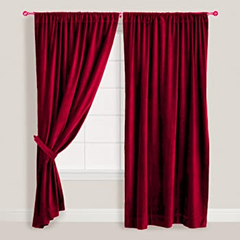 vintage rideaux en velours de coton couleur bordeaux 116 8 cm 228 6 cm de longueur de chutes en. Black Bedroom Furniture Sets. Home Design Ideas
